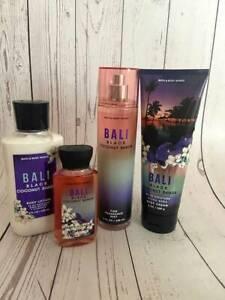 Bath & Body Works BALI BLACK COCONUT SANDS Cram Lotion Spray Shower Gel