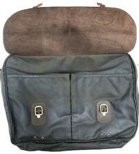 NWT Barbour Waxed  Leather Olive Briefcase Classic Tartan Lining