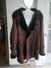 French Creek Genuine shearling Sheepskin coat chocolate brown