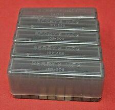 5 x .243 / .308 / 6.5 Crmr Ammo Box / Case / Storage 20 Rnd Boxes Smoke Color