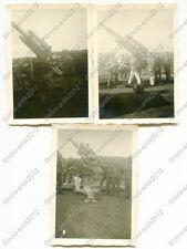 3x Foto, 10,5-cm-Flak 38, Küstengeschütz, Esbjerg, Dänemark (W)1502