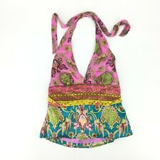 Alice and Trixie Halter Tie Top Womens Size Small