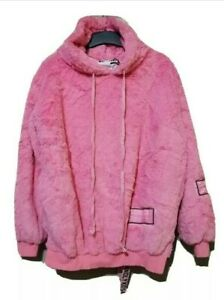 Moschino Oversized Faux Fur Hoodie Sweater