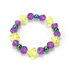 Mardi Gras Handmade Stretch Bracelet