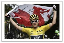 GERAINT THOMAS  2018 TOUR DE FRANCE SIGNED AUTOGRAPH PHOTO PRINT GB WALES