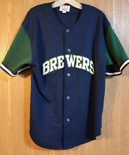 99bf8e2e8 Vintage Milwaukee Brewers Sewn Starter Blank Baseball Jersey Adult L