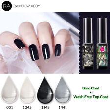 UV Nagellack Maniküre Soak Off Nail Gel Polish Top Coat Base Coat Grau Schwarz