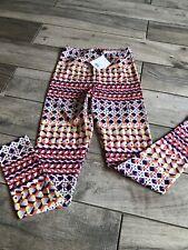Topshop Multicoloured Pattern Red Purple Orange Lycra Leggings Size 8