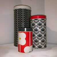 Orla Kiely Canister Set of 3 with Lids Metal Canisters