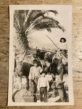 More details for real photo postcard.  camel men, las palmas.    ref816