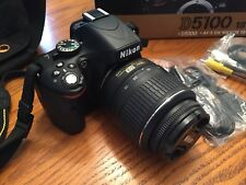 Nikon DX Black D5100 16.2MP Digital SLR with Camera Kit Lens (Used)