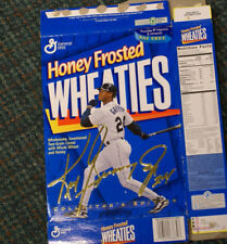 ken griffey jr rookie card 89 donruss and Wheaties Box cover-gold signature