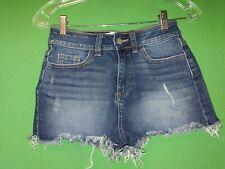 9796) VICTORIA'S SECRET PINK sz 0 denim jean shorts high waist cutoffs 0