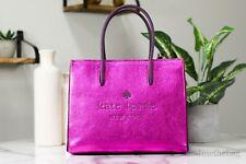 Kate Spade Trista Crinkle Patent Convertible Pink Shopper Tote Crossbody Handbag