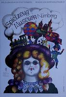 Plakat Poster - Spielzeug Museum Nürnberg - Werbeplakat
