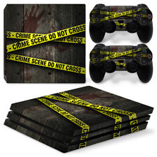 Crime scene skin For playstation PS4 PRO Console Stickers & 2 Controllers Skin
