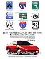 1993 Toyota Mr2 Turbo  -  Original Advertisement Print Art Car Ad J568