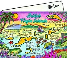 BRITISH VIRGIN ISLANDS MAP CARIBBEAN COLLECTIBLE SOUVENIR PLAYING CARDS
