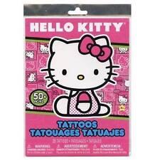 50+ HELLO KITTY Temporary Tattoos Child Birthday Party Favors Activity Supplies