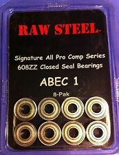 Skateboard Bearings 8-pk Abec 1 New Free Shipping Raw Steel/Play It Again Sports
