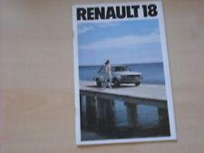 25978) Renault R18 R 18 Prospekt 197?