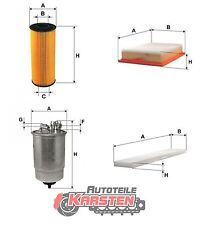 Set L: Luftfilter+Ölfilter+Kraftstofffilter+Innenraumfilter Inspektionssatz VW