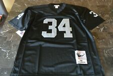 New Jersey Bo Jackson #34 Oakland Raiders Black Size L Large SEWN Throwback