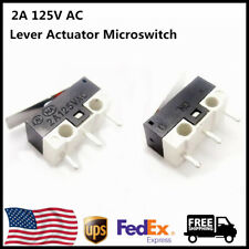 50Pcs AC 2A 125V 3 Pins SPDT Limit Micro Switch Long Hinge Lever for Arduino