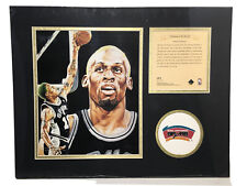 1995 Dennis Rodman San Antonio Spurs Matted Kelly Russell Lithograph Print #483