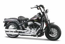 Harley DAVIDSON 2008 FLSTSB CROSS BONES 1:18 noir brillant moto die cast