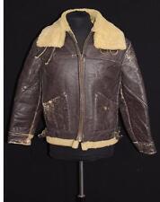 Rarissima Vintage 591mS Seconda Guedda Mondiale Era Marrone Montone Giacca  di f319b949c06
