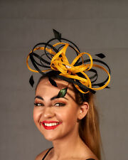 Gold & Black Looped Fascinator - BNWT - Great Design A036