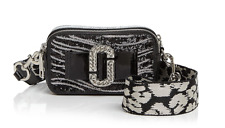 MARC JACOBS Snapshot Zebra Print Bow Camera Bag Black/Silver