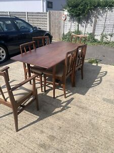 Vintage Mid-century Teak Dining Table & 6 Chairs by A. Younger for Heals Retro