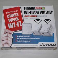 DEVOLO 9092 dLAN 500 WiFi Network KIT ***Wi-Fi Anywhere & Cure Weak Wi-Fi***