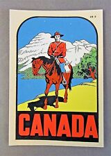 Lindgren-Turner Canada Rcmp Mountie water slide travel decal rat rod! Mip ^
