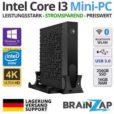 Mini-PC - Intel Core I3, 256GB SSD, 16GB RAM HTPC, WLAN, WIFI Win Windows 10 Pro