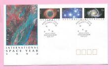 AUSTRALIA  FDC 1992 - INTERNATIONAL SPACE YEAR Stamps - Shs Siding Spring NSW