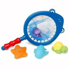 Baby Bath Tub Fishing Floating Fish Net Toy Water Scoop Organizer Bag Pouch Ss3