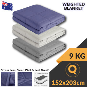Therapy Weighted Blanket Heavy Gravity Deep Relax Bamboo Adults Kids 5/7/9/11KG