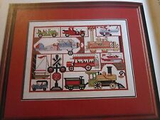 Cross Stitch Pattern Toy Cars, Trains, Planes, Boats & Ivy, Gather Ye Rosebuds