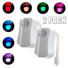 Body Sensing Automatic LED motion Toilet Bowl Light 2-Pack