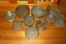 SHABBY LOT OF VINTAGE RETRO METAL CAKE TINS ETC. -WILLOW ETC. -COUNTRY KITCHEN