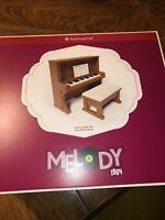 "American Girl Melody's Upright Piano 18"" Dolls NIB NRFB Melody Upright Piano"