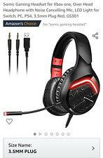 Somic Gaming Headset for Xbox one, Over Head Headphone with Noise Cancelling...