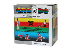 "CanDo latex-free exercise band, silver, 50 yard dispenser 1361169 7"" x 5.5"" x 7"""