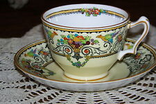 Crown Staffordshire - Renaissance - Cup and Saucer Set - Exceptional Condition