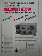 2/1968 PUB MARCONI AIRADIO SYSTEMS AD370 CRYSTAL CONTROLLED TUNING AD