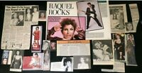 Raquel Welch COLLECTION OF MAGAZINE CLIPPINGS Articles 70's 80's