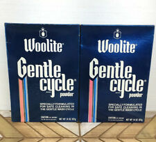 2 1982 VTG NOS Unopened Woolite Gentle Cycle Cleaner Powder 14 Oz Box Store Prop